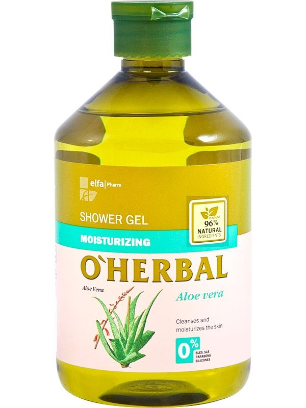 Poze O'Herbal. Gel de dus hidratant cu extract de aloe vera.