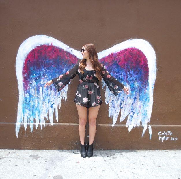 Collette miller angel wings 8401 w 3rd st near the for Instagram foto ideen