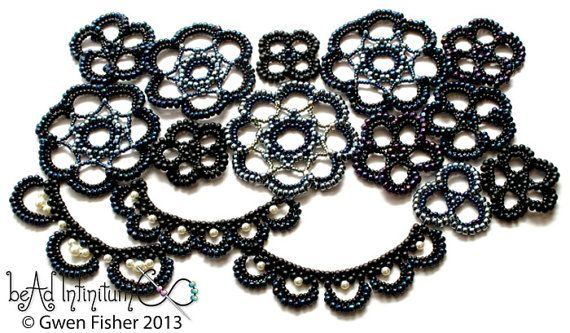 TUTORIAL Beaded Lace Medallions Part 4 of a Beaded by gwenbeads