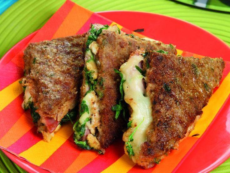 Ricetta Tramezzini di carne con formaggio e prosciutto