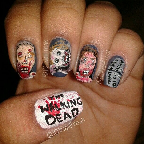 Walking Dead Nails: 80 Best Images About Nail Art On Pinterest