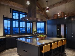 Ideal kitchen at the MacKenzie's private retreat.