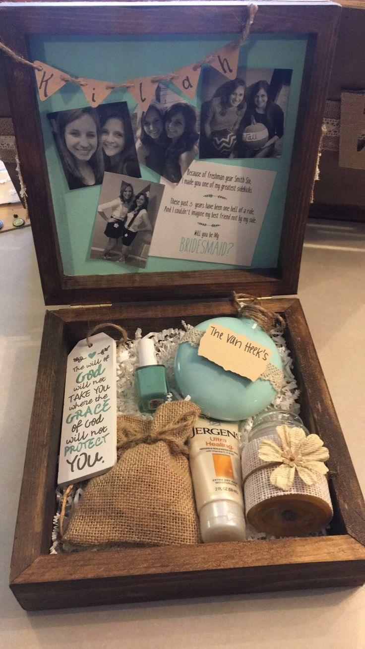 Rustic Bridesmaid Box. Will you be my Bridesmaid? Homemade bridesmaid gift box