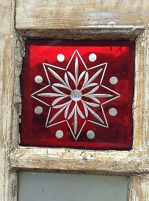 victorian red glass etchings stars - Google Search