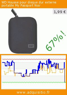 WD Housse pour disque dur externe portable My Passport Noir (Personal Computers). Réduction de 67%! Prix actuel 1,99 €, l'ancien prix était de 5,99 €. https://www.adquisitio.fr/western-digital/housse-disque-dur-externe