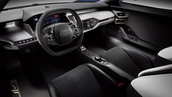 Интерьер суперкара Ford GT 2017 / Форд GT 2017