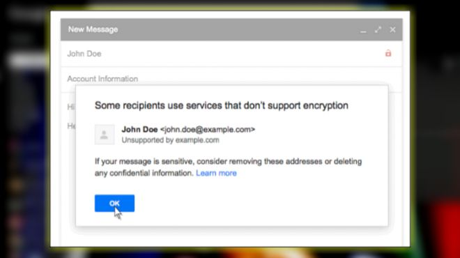 Gmail Will Warn You About Accounts that are Unsecured - February 17, 2016, 3:31 pm at http://feedproxy.google.com/~r/SmallBusinessTrends/~3/fYwwmwq551c/gmail-tls-encryption-unsecure-accounts.html There's no shortage of remarkable ideas, what's missing is the will to execute them. – Seth Godin