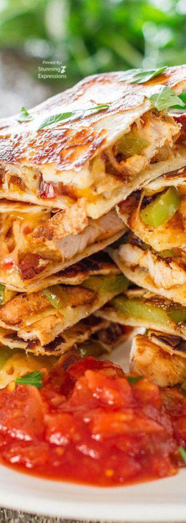 Chicken Fajitas Quesadillas Mexico