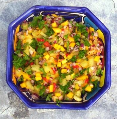 Eetlust!: Salsa van mango en gegrilde ananas