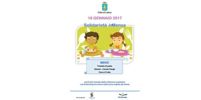 Nelle mense scolastiche e dei centri anziani menù solidale per le popolazioni colpite dal sisma