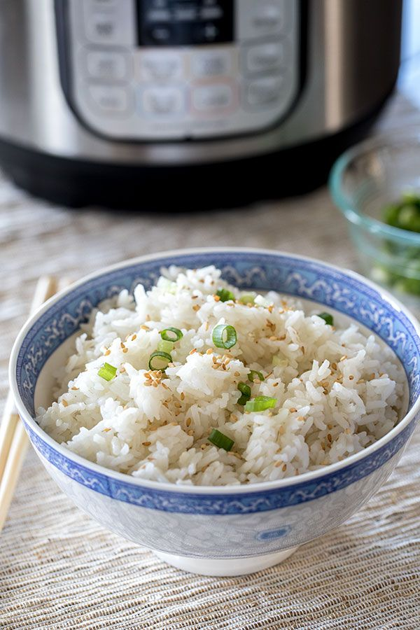 Pressure Cooker / Instant Pot White Rice is fast, easy, and perfect every time!