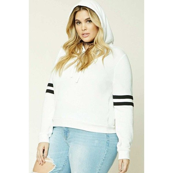 Plus Size French Terry Hoodie ($21) ❤ liked on Polyvore featuring tops, hoodies, french terry hoodies, hooded sweatshirt, plus size womens hoodie, sweatshirt hoodies and hooded pullover