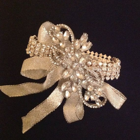 Rhinestone Brooch Corsage by TheFlowerCo on Etsy