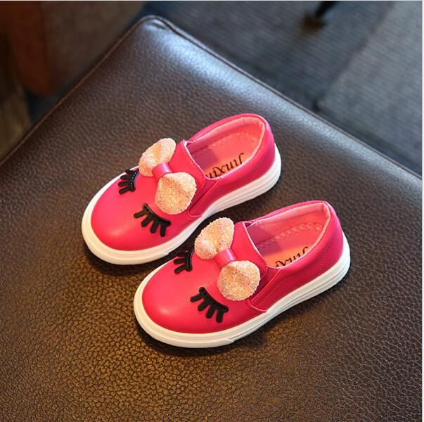 Children Shoes Girls Sneakers New Spring Autumn Cute Bow Fashion Princess Girls Shoes Kids Soft Casual Single Shoes Size 21-30