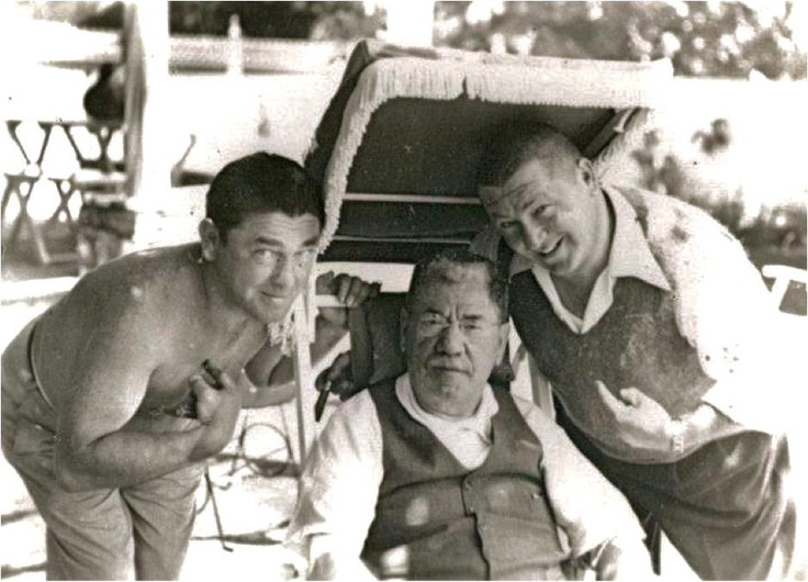Moe Howard and Curly Howard with their father Solomon Horwitz via 3 Stooges Archive
