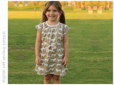 Lilac Dress - Sizes 2 to 10 | Craftsy | digital pdf sewing pattern