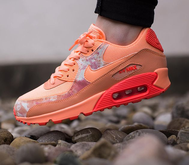 Nike Air Max 90 Print WMNS - Sunset Glow   Sunset Glow - Hot Lava - White  130dda5050