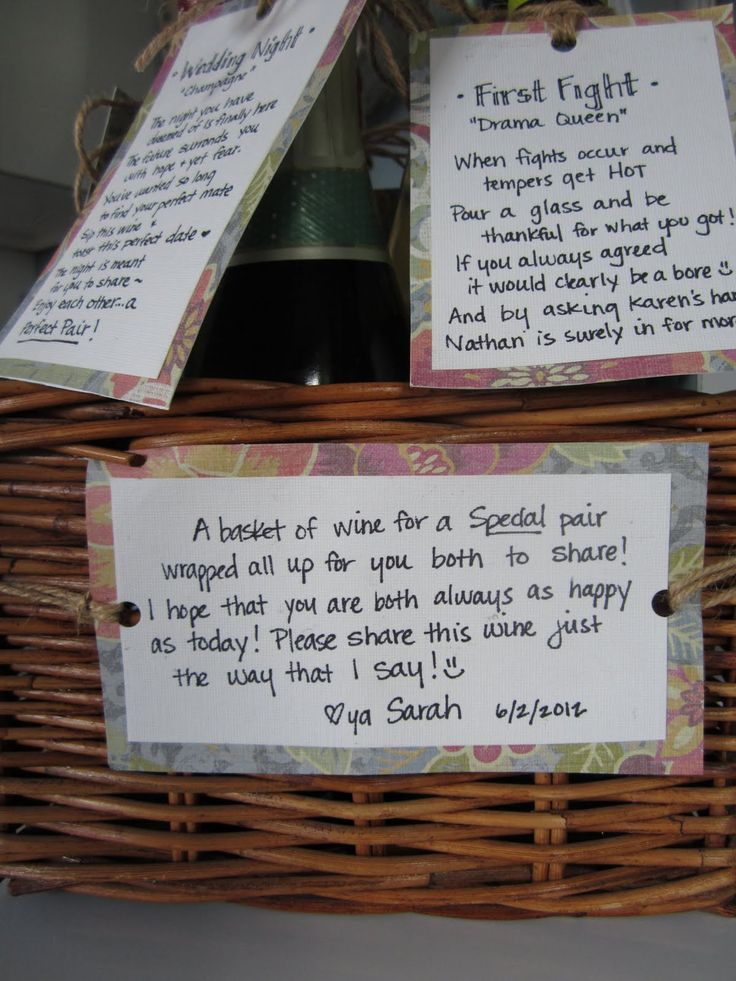 wine wedding shower gift poem%0A Milestone Wine Basket  make your own tags and attach to wine bottles