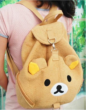 Bring Rilakkuma with you wherever you go with this great backpack.  Perfect bag for going to school, and taking short trips!