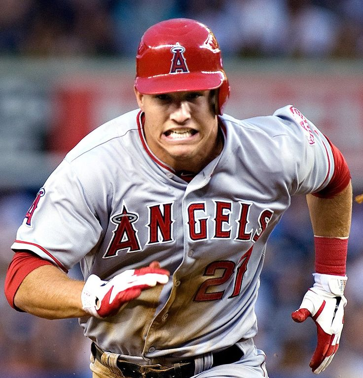 1. Mike Trout  -  Michael Nelson Trout is an American professional baseball center fielder for the Los Angeles Angels of Major League Baseball. Trout is a six-time MLB All-Star, and received the American League Most Valuable Player award in 2014 and 2016.