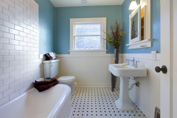 images yellow and blue bungalows | Ideas para decorar el baño