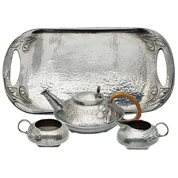 Archibald Knox Liberty Tea Set And Tray, Circa 1906