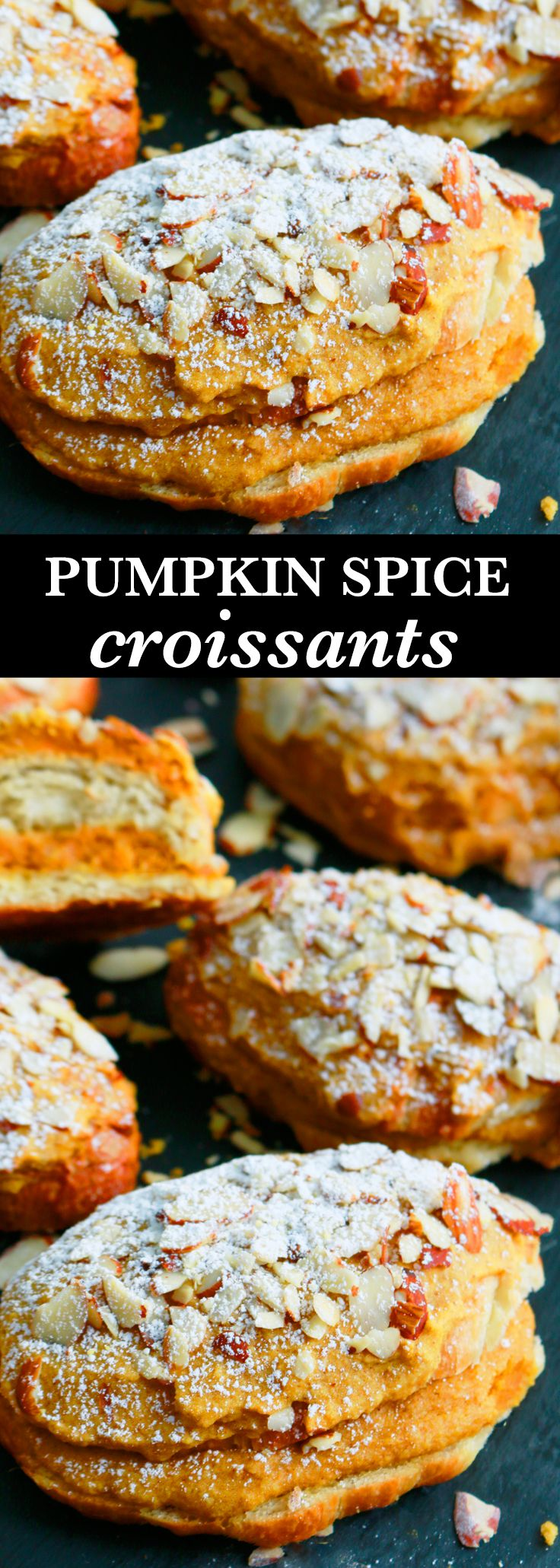 almond croissant | pumpkin croissant | pumpkin recipes | croissant recipes|  croissant breakfast | pumpkin ideas | pumpkin treats | pumpkin pastry | pastry recipes |