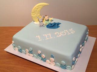 Ristiäiskakku pojalle / christening cake for boy