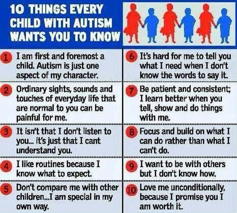 Sometbing to give to your autistic childs teacher at the beginning of the school year, as a reminder