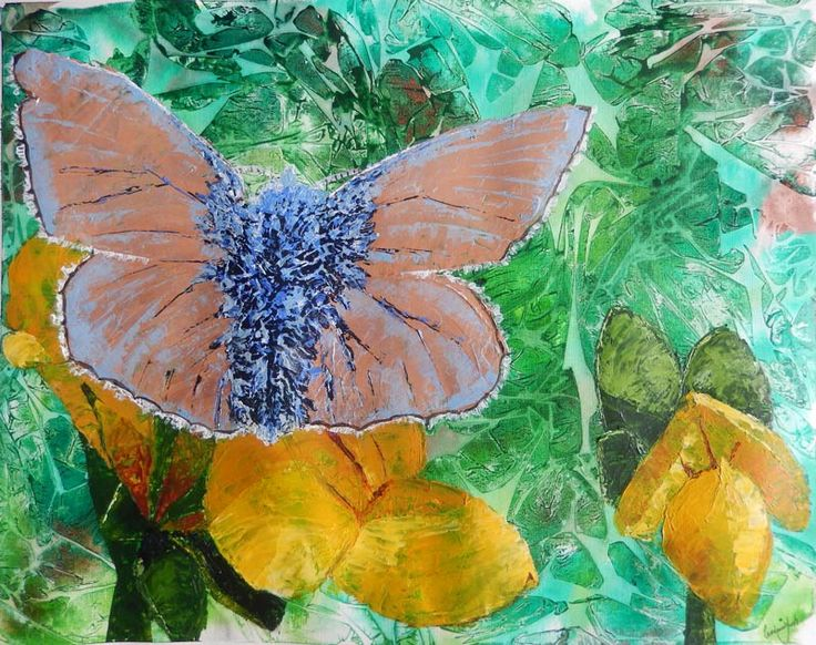 Common blue butterfly on bird's foot trefoil | 24Steps Art and Design