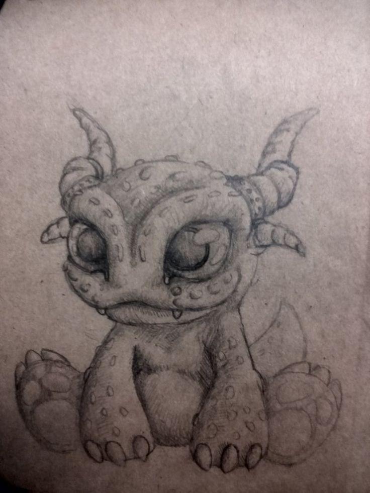 little dragon by kuuvalas on DeviantArt #cute, #cutemonster, #sketch
