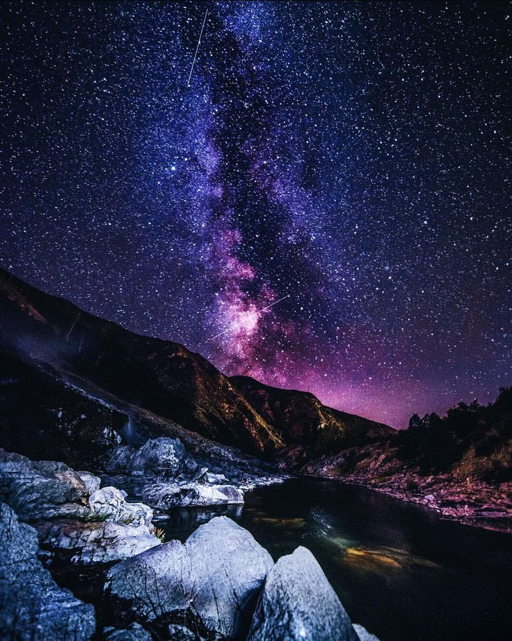 Stars above Kirkham Hot Springs near Lowman, ID. Photographer: #Fudo Jahic