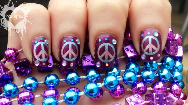 outrageous nail designs | Peace Sign Nail Art Design & Poll Results