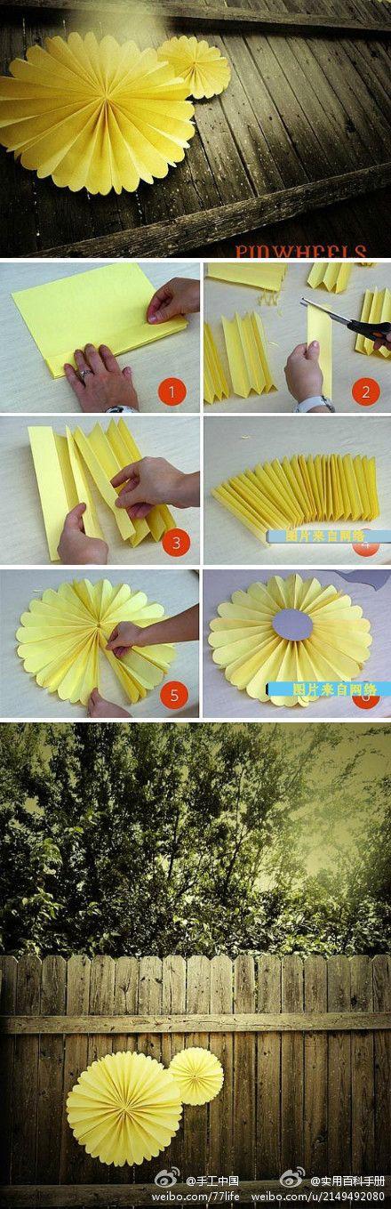 pinwheels easy decorating anywhere! nursery would be cute