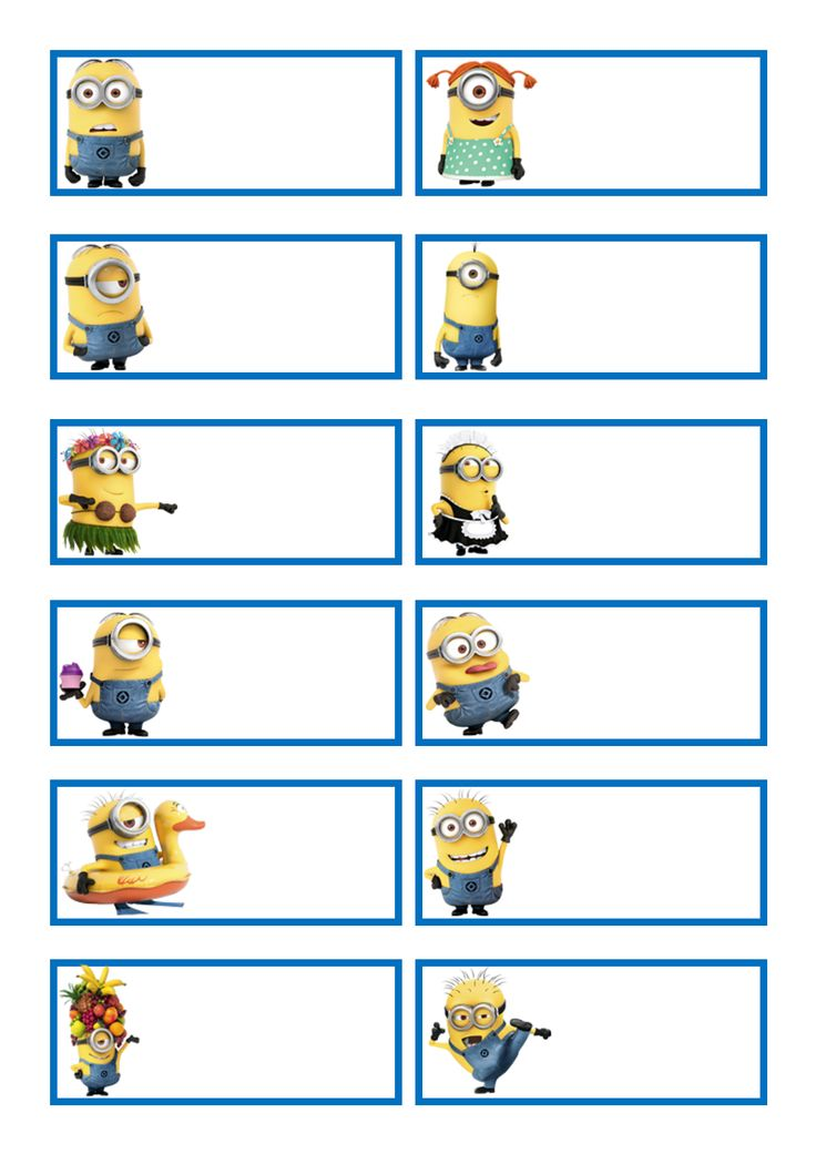 Minions Labels