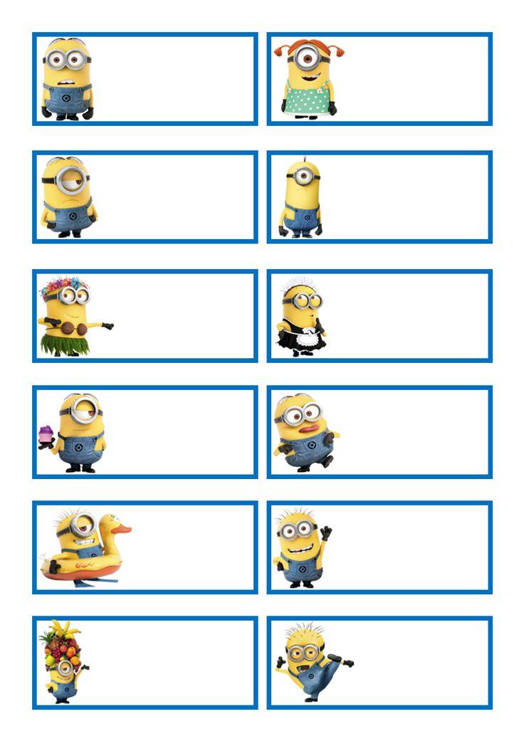 Minions labels scrapbookprintouts printable tag for Minions immagini da stampare