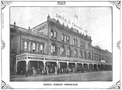 Smith & Caughey's Queen Street frontage in its earliest years
