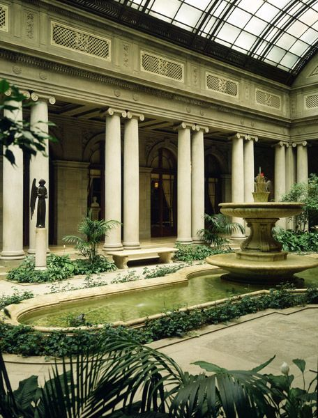atrium at the frick museum