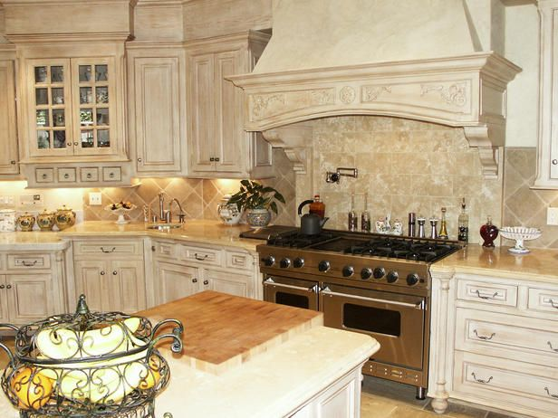 old world charm in modern kitchen - Old World Kitchen Cabinets