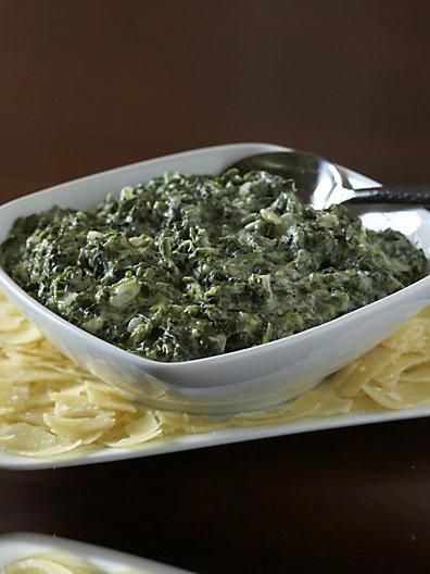 Spinach, Creamed spinach and On the side on Pinterest