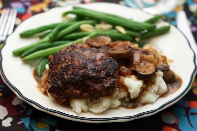 Steak With Drunken Mushrooms & Roasted Blue Cheese Potatoes Recipe ...