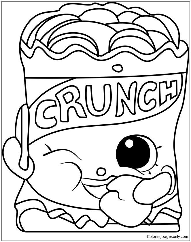 Crispy Chip Shopkins Coloring Page Free Coloring Pages Online Shopkins Colouring Pages Bee Coloring Pages Coloring Pages