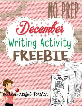 Both Teachers and Kids will LOVE this freebie! Set of 3 December no prep Activities. December Winter Holiday Activities Freebie Includes: - Coloring Page - Journal Prompt Paper - Holiday Writing PaperThis FREEBIE is part of my December Winter Holiday NO PREP Activities Packet.You can also get just the coloring pages HEREt.~~~~~~~~~~~~~~~~~~~~~~~~~~~~~~~DON'T MISS THESE OTHER FREEBIES!- Context Clues Anchor Chart- Context Clues Graphic Organizer- Speeding Tickets- Using Commas Center…