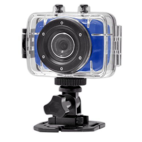 Beach Time! Gear-Pro High-Definition Sport Action Camera, 1080p 720p Wide-Angle Camcorder With 2.0 Touch Screen - SD Card Slot, USB Plug And Mic - All Mounting Gear Included - For Biking, Riding, Racing, Skiing And Water Sports, Etc. - BLUE