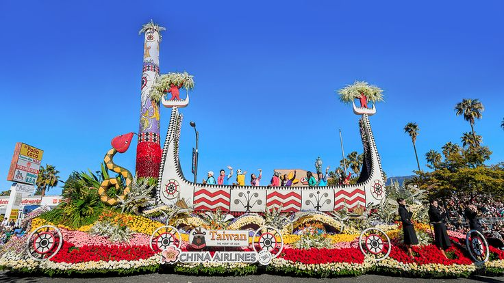 Rose Parade 2016-China Airlines Float