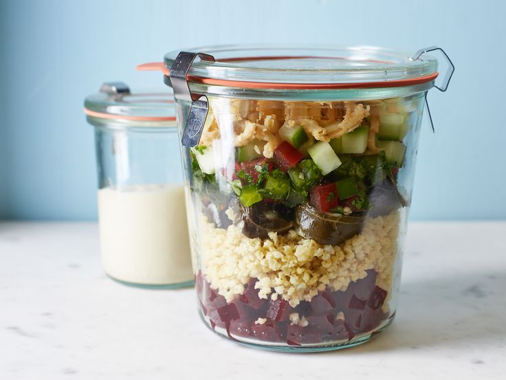 Middle Eastern Millet Salad-in-a-Jar recipe from Food Network Kitchen via Food Network