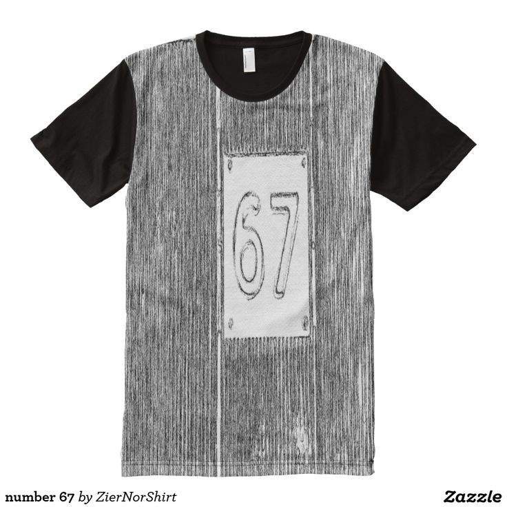 number 67 All-Over print t-shirt