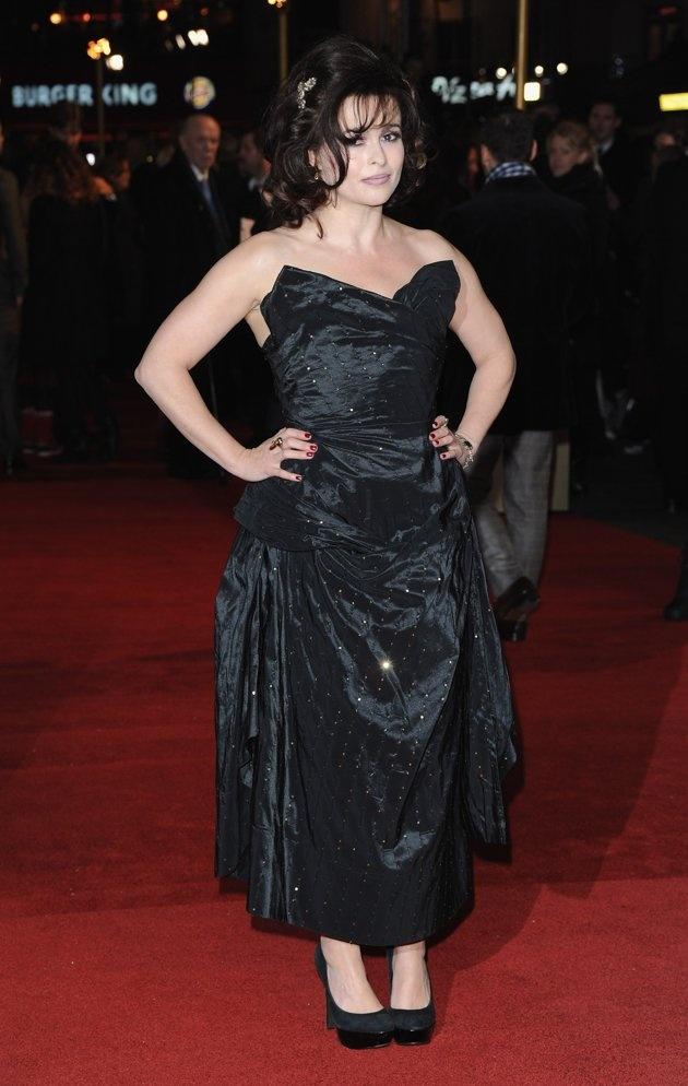 Les Mis (2012) | London Premier: Helena Bonham Carter (Mme Thenardier) on the Les Miserables Red Carpet.