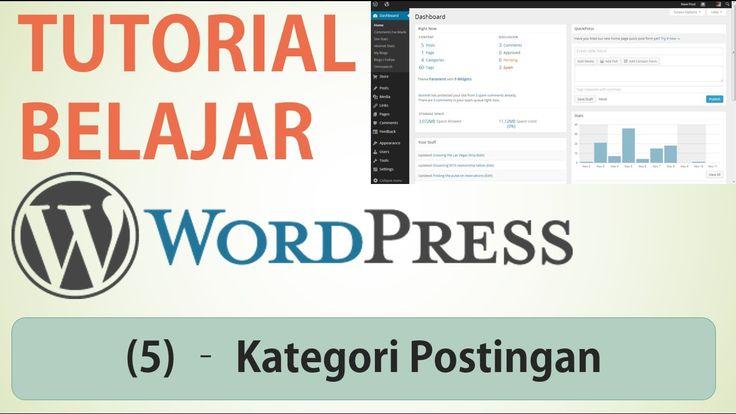 Belajar Wordpress - (5) Kategori Postingan / Category