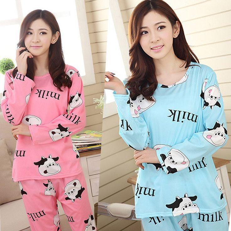 Pijama De Animal Women Soft Comfy Autumn Casual Sleepwear Cartoon Nightwear Homewear Pajamas Set Leisurewear
